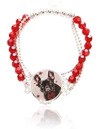 Marc Labat - 12H25 - My Little Pets - Bracelet Femme - Métal - Email - Perle - 19 cm