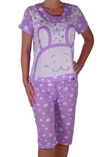 EyeCatch - Pyjama ensemble T shirt et pantalon - Virgo - Femme Pourprec