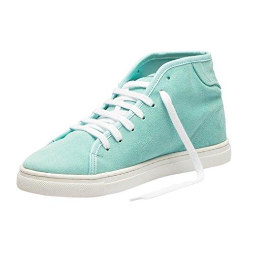Tedish Baskets Pour Femmes Chaussures De Marche En Cuir Dames Confortables Espadrilles Plates Casual Girlstd005 Esme Ice Green Ice Green