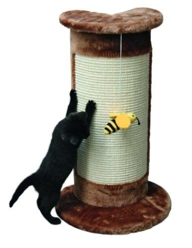 Kerbl Kratzsäule für Zimmerecken braun, 57cm; mit Biene am Band