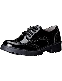 Geox J Casey Girl N, Zapatos de Cordones Brogue para Niñas