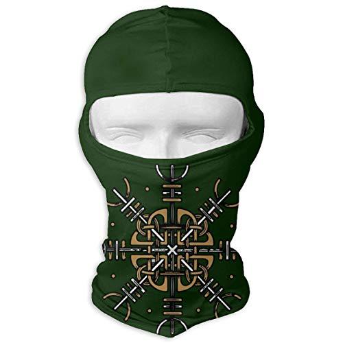 Wikinger Rune Symbole Sport Staub Gesichtsmaske Männer Frauen Bandana Stirnband Sturmhaube Weiß