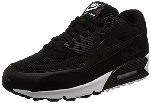 Nike Air Max 90 Essential, Baskets Mode Homme, Noir (Black/Black-White), 40 EU