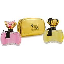 Coffret 2 Parfums femme Paris Elysees collection Petite Fleur + 1 pochette en cadeau