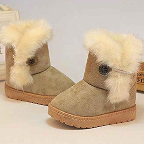 pour 1-6 ans Enfants, Amlaiworld Hiver bébé filles garçons bottes chaussures chaudes Kaki
