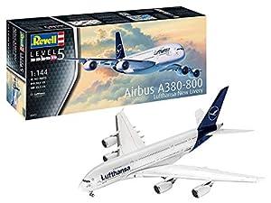 Revell-Airbus A380-800 Lufthansa New Li, Escala 1:144 Kit de Modelos de plástico, Multicolor, 1/144 03872 3872