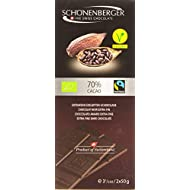 Schönenberger Chocolat Noir Bio 70 % Cacao 2 x 50 g