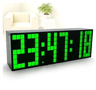 RioRand® Digital Large Big Number Jumbo LED snooze wall desk Alarm clock -Green Light