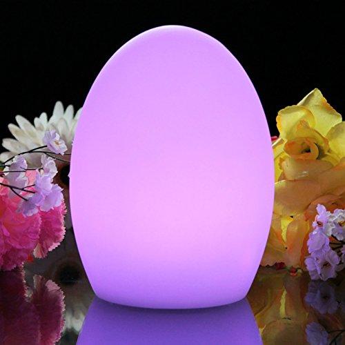 Ei-lampe (Stimmungslicht LED mit Farbwechsel - 19cm Ei Lampe LED Licht für Deko, Batteriebetriebene Stimmungslampe von PK Green)