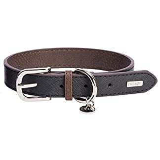DO & G Leather Collection Dog Collar, X-Small, Black 7