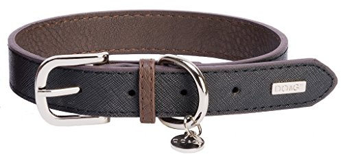 DO & G Leather Collection Dog Collar, X-Small, Black 1
