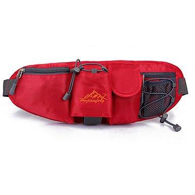 SUNNY KEY-Zaini casual@1 L Zaino anteriore Marsupi Belt Pouch Borsello da petto Corsa Ciclismo da montagna Campeggio Campeggio/Escursionismo/Speleologia Viaggi , gray red