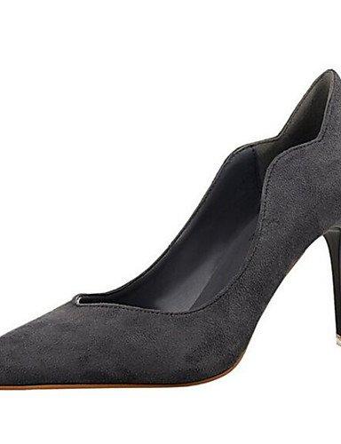 WSS 2016 Chaussures Femme-Habillé / Soirée & Evénement-Noir / Rose / Rouge / Gris-Talon Aiguille-Talons-Talons-Synthétique black-us8.5 / eu39 / uk6.5 / cn40