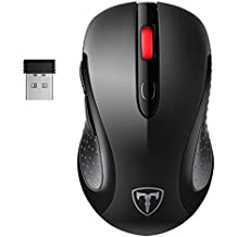PC Maus, TOPELEK Maus Mini Schnurlos Maus Wireless Mouse Optical Business Mouse USB Funkmaus Optische Mäuse 2.4 G 2400 DPI Drahtlose Maus mit Nano-Receiver, 6 Tasten, Energiesparender Schlafmodus Für PC Laptop iMac Macbook Microsoft Pro, Office, Home.