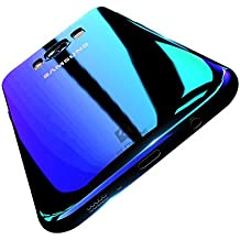 Samsung Galaxy S8 Ultra Thin Case, FLOVEME Phone Case (Colour PC Color Changing, Hard Back Protective Cover, Slim Fit,5.8inch) Shockproof Shell for G9500 (Blue)