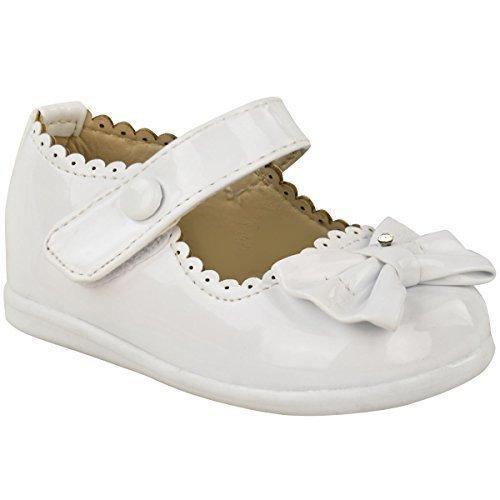 Fashion Thirsty Bébé Filles pour Enfants Verni Nœud Landau Mariage Fête de Baptême Chaussures Taille
