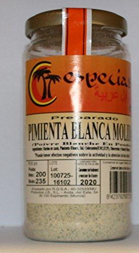 Pimienta Blanca Molida 200 grs // Poivre Blanche en pouder.