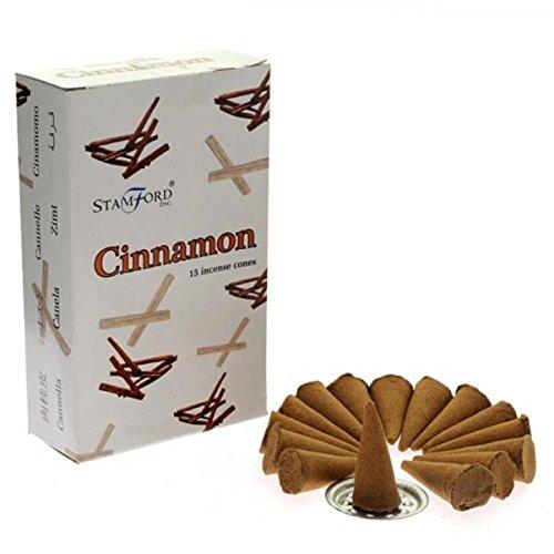 oils and incenses Cônes d'encens Stamford Cannelle 12 paquets de 15 Cônes