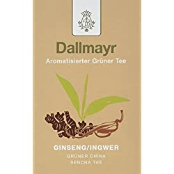 Dallmayr Aromatisierter Grüntee - China Sencha Ginseng - Ingwer, 8er Pack (8 x 100 g )