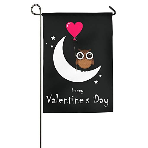 WEERQ Owl with Love Peach Balloons to Celebrate Valentine's Day Floral Garden Yard Banner for Outside House Flower- Best for Party Yard and Home Outdoor Decor