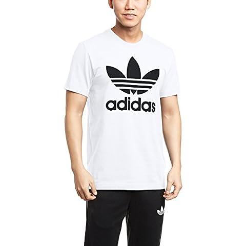 Adidas Originals Trefoil Camiseta de manga corta para hombre Blanco blanco Talla:M