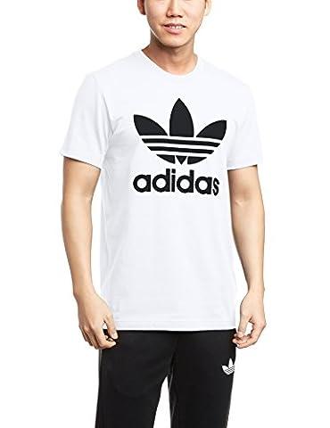 adidas Herren T-shirt Originals Trefoil, White, M, AJ8828