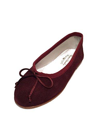 M盲dchen Ballerinas Flats Leder extra soft-Made in Spain Rot bourdeaux