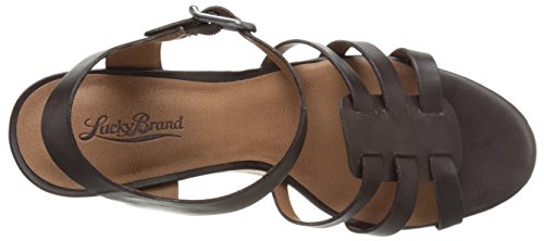 Lucky Brand Willows Offener Spitze Leder Keilabsätze Sandale Java
