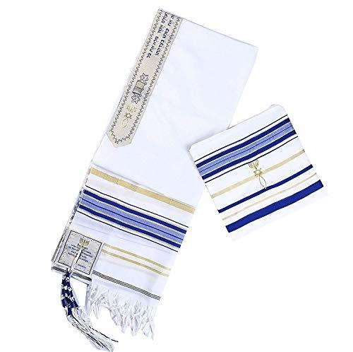 Bethlehem Gifts TM Authentic messianischen Jüdische Christian Tallit Gebet Schals aus Israel Regular Blau (Jüdischen Gebet Schal Für Frauen)
