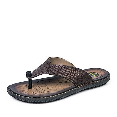 Slippers & amp da uomo; Pelle Primavera Estate Comfort Ufficio & amp esterna; Carriera piano casuale Lui sandali US7 / EU39 / UK6 / CN39