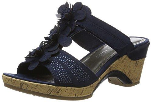 Marco Tozzi Damen 27213 Offene Sandalen mit Keilabsatz, Blau (Navy 805), 38 EU