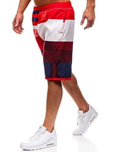 BOLF Herren Badehose Shorts Bermudas Kurzhose Fitness HOT RED Y720B Mehrfarbig L [7G7]