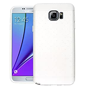 CUBIX Network Series Case Cover for Samsung Galaxy Note 5 (White) Grip Tpu Soft Jacket Back Case Cover Bumper Leather Touch & feel