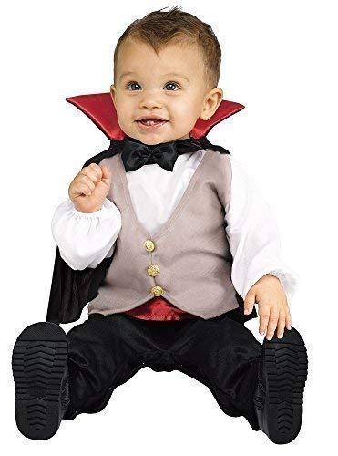 Baby Kleinkind Jungen Anzahl Dracula Vampir Halloween Kostüm Kleid Outfit 1-2 ()