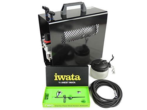 Iwata NEO CN Airbrush Set Mit Kompressor. Die Komplett Starter Kit. -