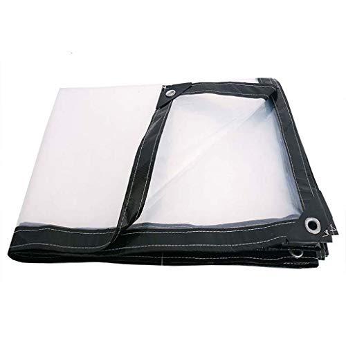 HUYYC Transparent tarpaulin mit Ösen, transparente Plane lkw plane Plane reißfest reiß- und reißfest,3x10m