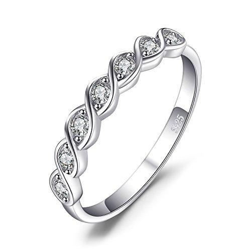 JewelryPalace Klassische Runde Zirkonia Hochzeits Versprechen Ring 925 Sterling Silber (Sterling 925 Ringe Versprechen Silber)