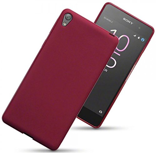 sony-xperia-e5-case-silicone-gel-cover-matte-red-design-scratch-resistant-protective-bumper-shockpro