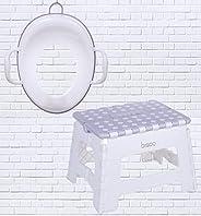 Bisoo - Set Total - Orinal Infantil + Adaptador Reductor WC Niños y Niñas + Escalon Taburete Plegable + 3 Obse