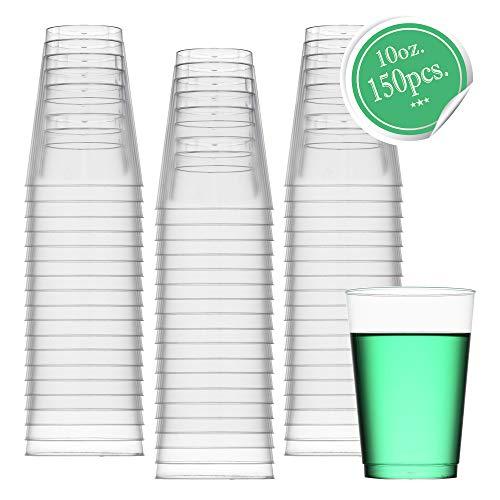 ststoff, transparent, 284 ml Plastikbecher, für Partys, Hochzeiten, Cocktails, 50 Stück 150pk farblos ()