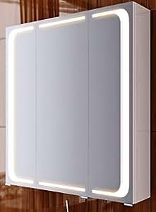 Badezimmerspiegel led spiegelschrank mailand badm bel badspiegel 80 cm breit baumarkt for Spiegelschrank 1m breit