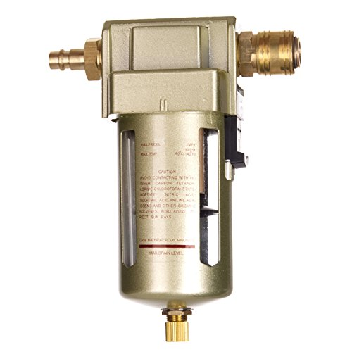 """Druckluft Filter 1/2\"""" 14BAR Wasserabscheider Ölabscheider INKLUSIVE Schnellkupplungen"""
