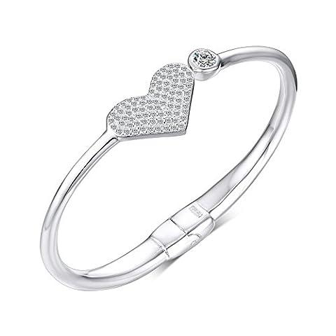 Costumes Partenaires Pour Les Gars - Vnox 999 Sterling Silver zircon Coeur Charm