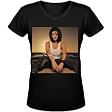 Laura Pausini From The Inside Personal Femme's V-Neck T-Shirt XXXX-L