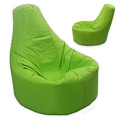 Large Bean Bag Gamer Recliner Outdoor And Indoor Adult Gaming XXL Lime Green - Beanbag Seat Chair (Water And Weather Resistant) - low-cost UK light shop.