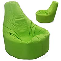 Large Bean Bag Gamer Recliner Outdoor And Indoor Adult Gaming XXL Lime Green - Beanbag Seat Chair (Water And Weather Resistant)