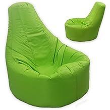 Grande puf reclinable Gamer interior y exterior adulto juegos asiento XXL verde lima–Beanbag silla (agua y resistente a la intemperie)