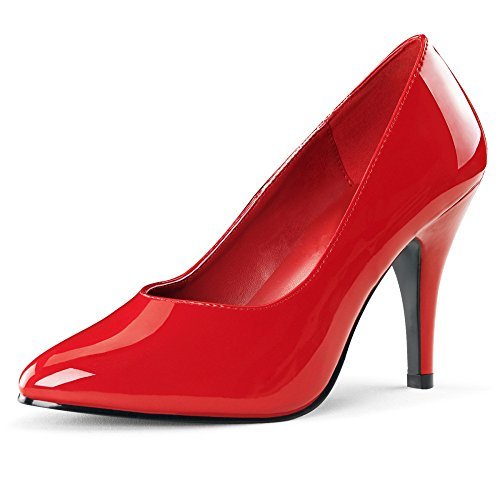 Lack Pumps, Damen, Rot (rot) Rot (Rot)