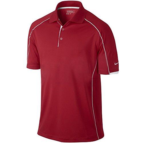 Nike Golf Men's Tech Core Color Block Polo University Red/White//White S - Nike Tech Core