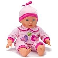 586717c88514 CALINOU Vêtements pour poupée de 42 cm   Pyjama Rose avec Oiseaux et Coeur